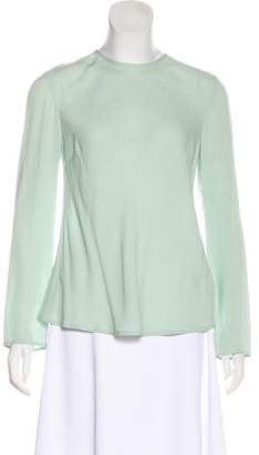 Camilla And Marc Silk Long Sleeve Blouse