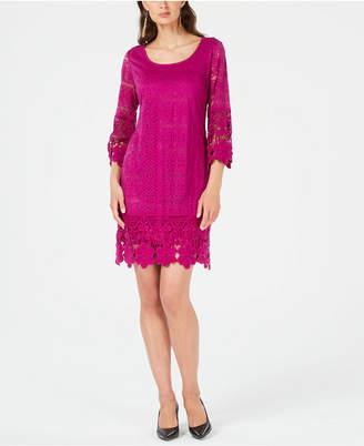 Alfani Crochet-Trim Illusion Dress