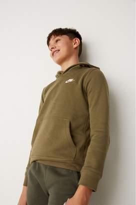 Nike Boys Club Khaki Overhead Hoody - Brown