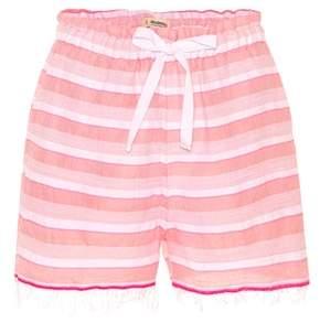Lemlem Lulu striped drawstring shorts