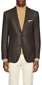 Pal Zileri MEN'S STEP-WEAVE WOOL-BLEND TWO-BUTTON SPORTCOAT-BROWN SIZE 40 R