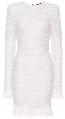 Balmain Exclusive to Mytheresa Metallic boucle dress