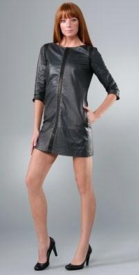 Rag & Bone Noir Leather Dress