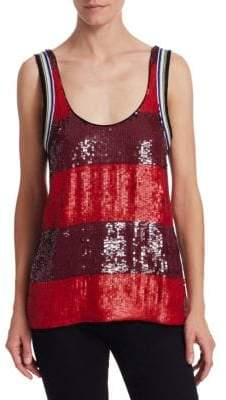 3.1 Phillip Lim Striped Sequin Tank