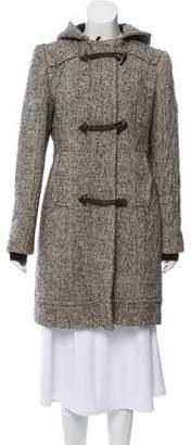 CNC Costume National Wool Herringbone Coat
