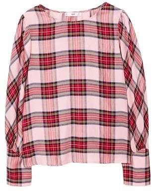 MANGO Plaid blouse