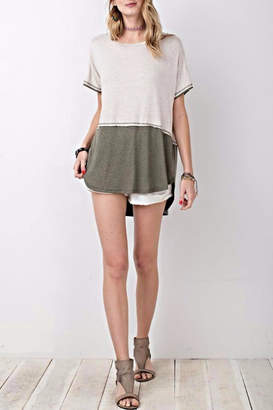Easel Color Block Tunic