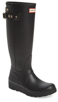 Women's Hunter Original Tall Studded Wedge Rain Boot $175 thestylecure.com