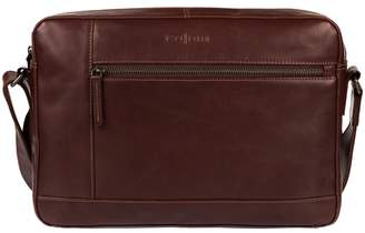 5fcc7a90aacb at Debenhams · Pure Luxuries London - Brown  Imola  Italian-Inspired Leather  Messenger Bag