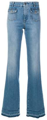Stella McCartney faded wide leg jeans
