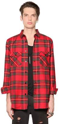 Les (Art)ists Plaid Light Cotton Blend Flannel Shirt