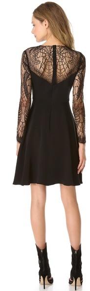 Monique Lhuillier Long Sleeve Cocktail Dress