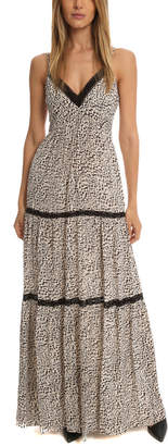 L'Agence Abby Lace Trim Maxi