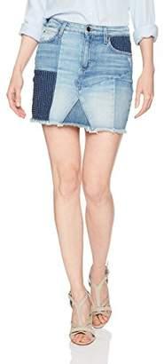 Joe's Jeans Women's Patchwork Slit Hem Jean Skirt