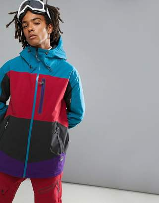 O'Neill Jeremy Jones Rider Ski Jacket Color Block in Multi