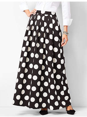 Talbots Pleated Dot Maxi Skirt