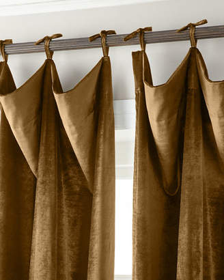 """Parker 6009 120""""L Tie-Top Velvet Curtain"""