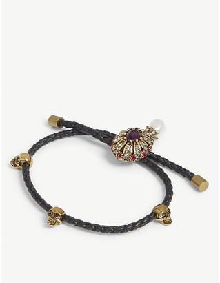 Alexander McQueen Jewel charm nappa leather bracelet