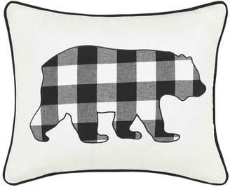 Eddie Bauer Cabin Plaid Bear Breakfast 100% Cotton Breakfast Pillow