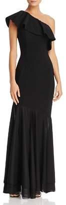 Aqua One-Shoulder Ruffle Gown - 100% Exclusive