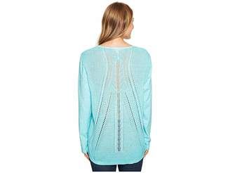 Tribal Sweater Back Top Women's Long Sleeve Pullover