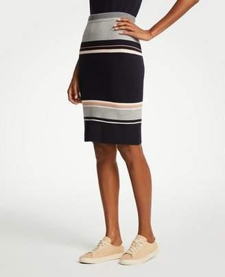 Ann Taylor Tall Striped Sweater Skirt