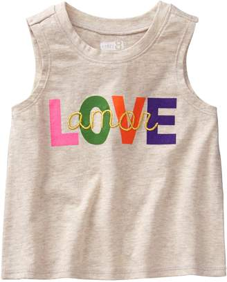 Crazy 8 Crazy8 Toddler Love Amor Tank