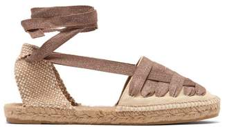 Castaner Jean Cotton Canvas Espadrilles - Womens - Beige Multi