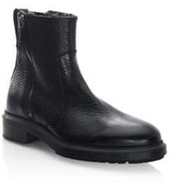 Aquatalia Travis Leather Fur Boots
