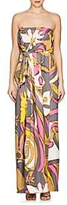 Marc Jacobs WOMEN'S ABSTRACT-PRINT JERSEY STRAPLESS GOWN-GRAY SIZE 0