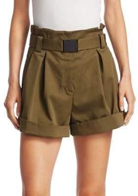 No.21 NO. 21 Hi-Waisted Belted Shorts