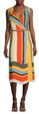 Tory Burch Bettina Belted Silk Midi Dress