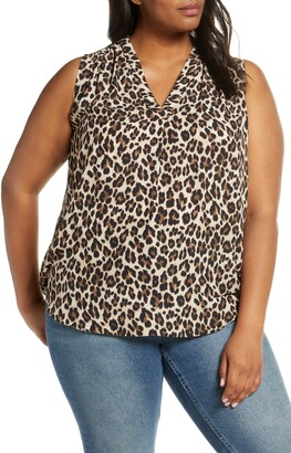 Vince Camuto Leopard Print Sleeveless Top