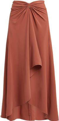 Dion Lee Pierced Cady Midi Skirt
