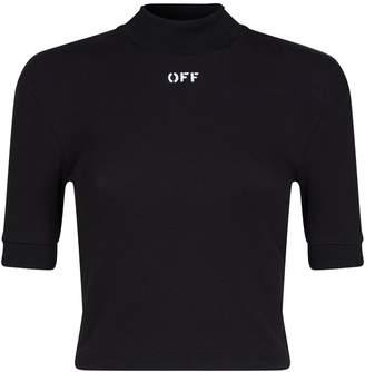 Off-White Crop Logo T-Shirt