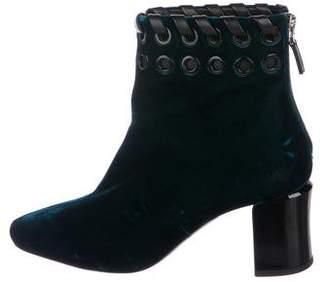 Fendi Velvet Round-Toe Boots