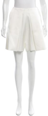 CelineCéline Pleated Mini Shorts