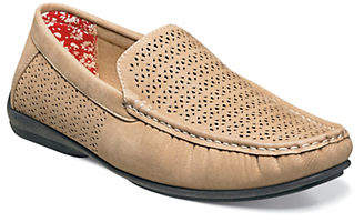 Stacy Adams Cicero Perforated Slip-On Leather Loafers