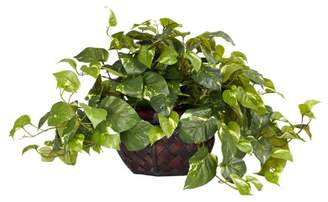 Nearly Natural 6681 Pothos with Vase Decorative Silk Plant