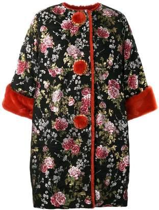 Dolce & Gabbana oversized floral coat