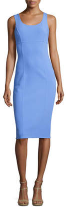 Michael Kors Collection Sleeveless Virgin Wool Sheath Dress, Blue $1,695 thestylecure.com