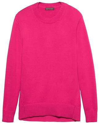 Banana Republic Supersoft Cotton Blend Boyfriend Crew-Neck Sweater