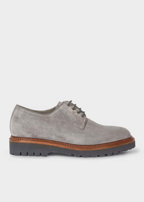 Paul Smith Men's Grey Suede Leather 'Rod' Derby Shoes