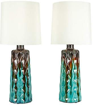 One Kings Lane Vintage Mid-Century Modern Table Lamps - Set of 2 - La Maison Supreme