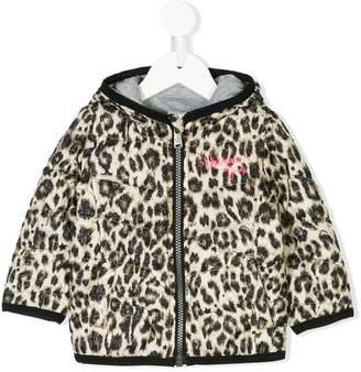 Vingino leopard printed zipped padded jacket