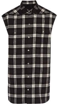 4fab3b6e23eea Rick Owens Oversized Checked Cotton Sleeveless Shirt - Mens - Multi