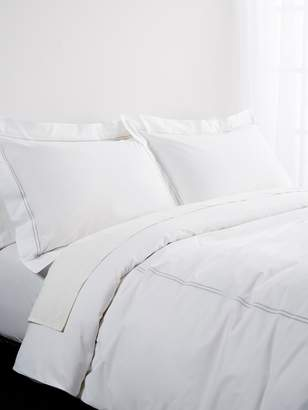 Bellino Italian Linens Two Line Embroidery Percale Duvet Set