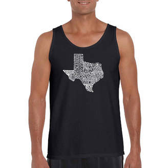 The Great LOS ANGELES POP ART Los Angeles Pop Art State Of Texas Word Art Tank Top- Men's Big and Tall
