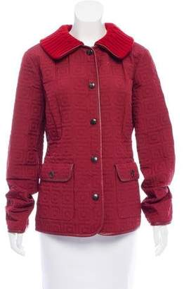 Agnona Leather Trimmed Quilted Jacket w/ Tags