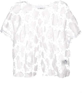 Julien David transparent woven top